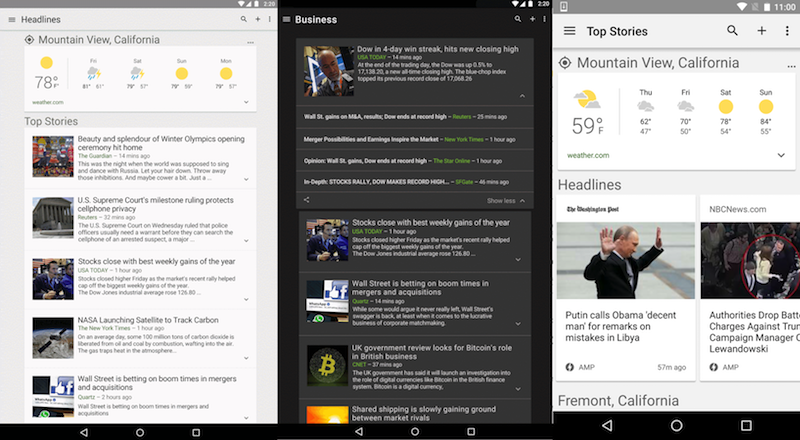 Google News and Weather app update 3 1 4 adds auto load of