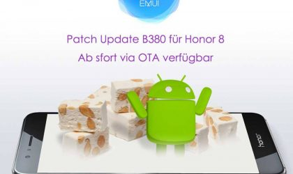 Huawei Honor 8 OTA update (B380) rolling out in Germany with February security patch and performance improvements