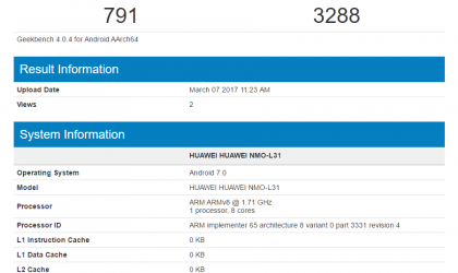 Huawei GR5 Mini spotted running Android 7.0 Nougat update on Geekbench, should release soon