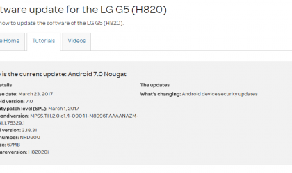 AT&T LG G5 and V10 get March security patch update as software version H82020i and H90021z