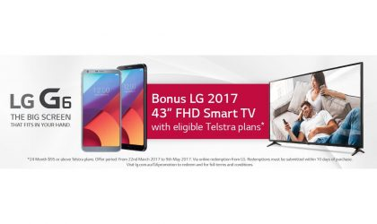 Pre-order LG G6 via Telstra and get a 43-inch LG Smart TV for free