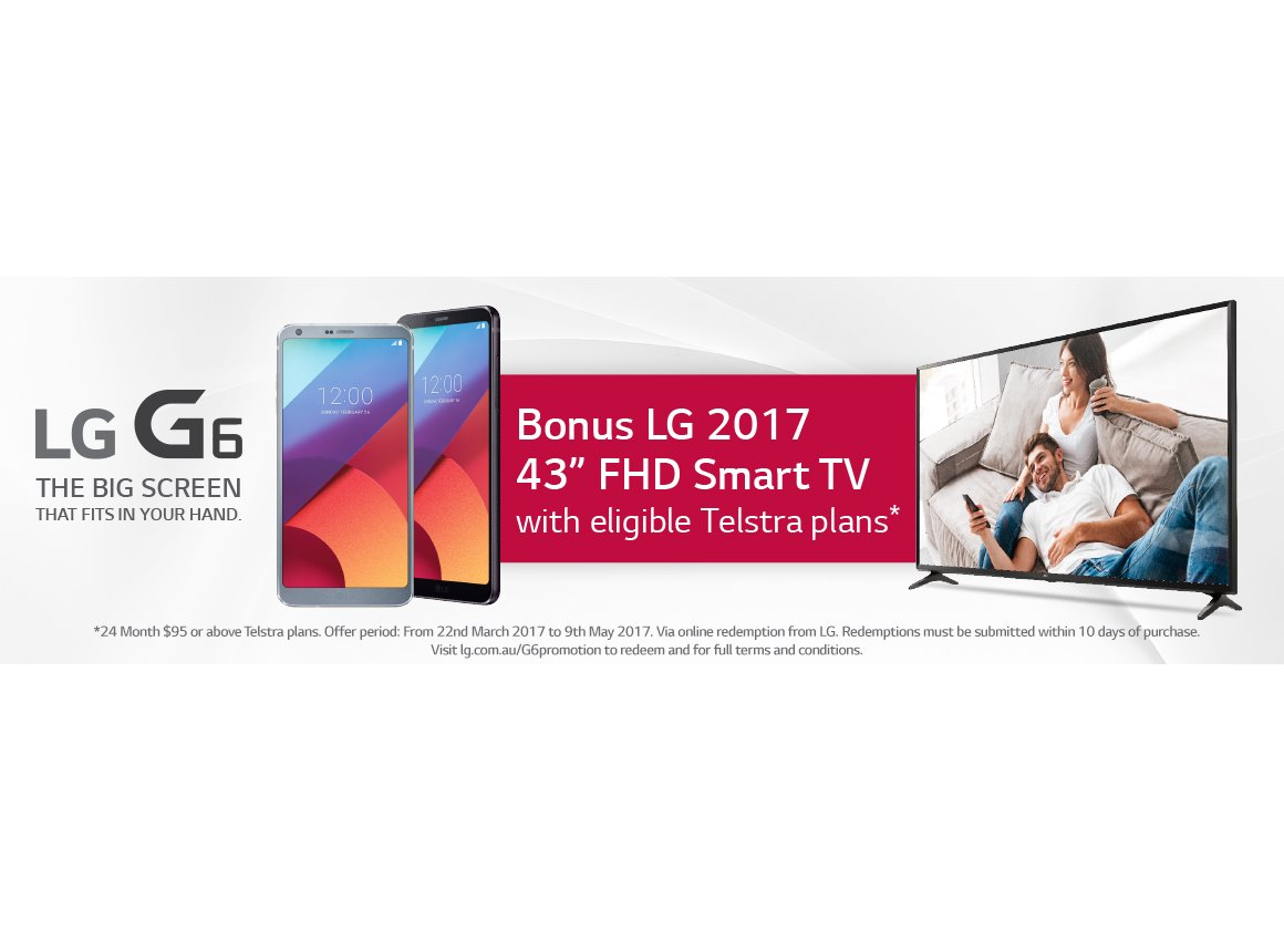 lg tv australia. with less than a week remaining for lg\u0027s flagship smartphone to go on sale in australia, it is up pre-order at telstra, g6 exclusive launch partner lg tv australia