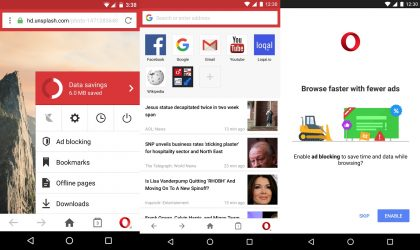 Opera Mini Web browser receives UI refresh with latest update