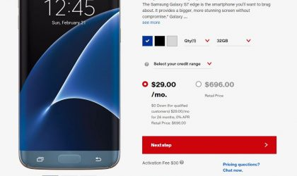 Verizon Galaxy S7 Edge price dropped by around $100 in preparation for the Galaxy S8