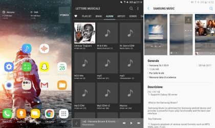 Download ported Galaxy S8 apps and weather widget