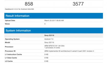 Sony Xperia XA1 benchmarks now available