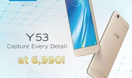 Vivo Y53 launches in Philippines, priced PHP 6,990