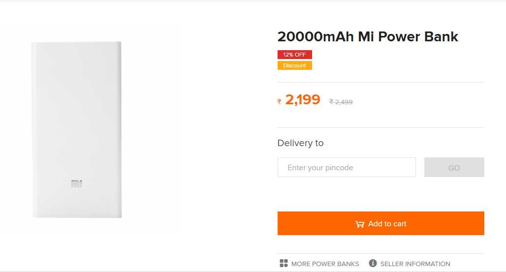 Xiaomi Mi Power Bank 10000 MAh And 20000 MAh Back In Stock