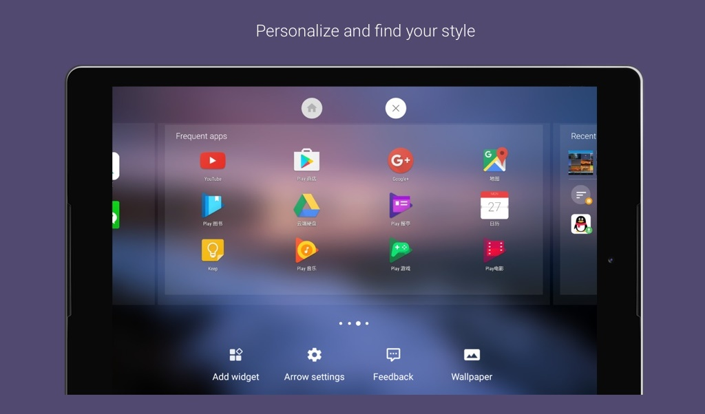 Arrow Launcher update adds support for Android tablets too