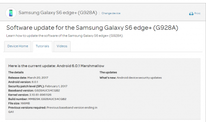 AT&T Galaxy S6 Edge+ OTA update rolling out with February security patch, build G928AUCS4CQB2