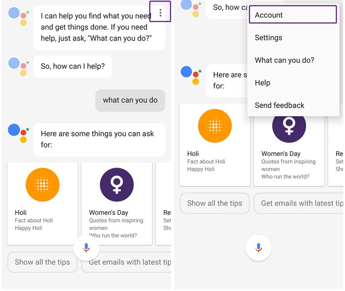 change-google-assistant-account