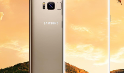 New leaked press shots show Gold color Galaxy S8 and S8 Plus