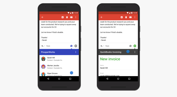 Google Announces Developer Preview Of Gmail Addons For G Suite - Quickbooks invoicing for gmail