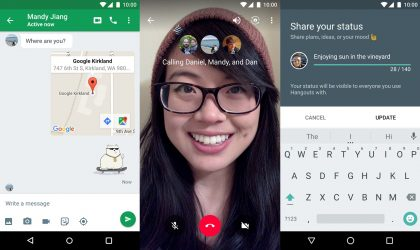 Latest Hangouts update now supports chat from within video calls