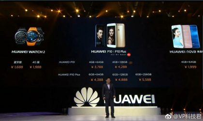 Huawei announces prices for Watch 2, P10, P10 Plus and Nova in China