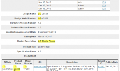 LG K8 2017 for Verizon clears Bluetooth SIG, launch imminent