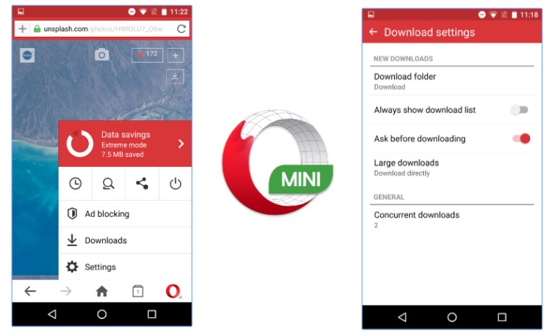 download opera mini browser beta for android
