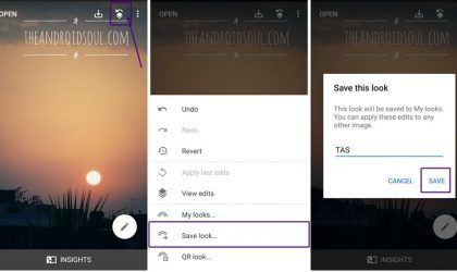 How to save, reuse and share photo-editing effectsusing Snapseed