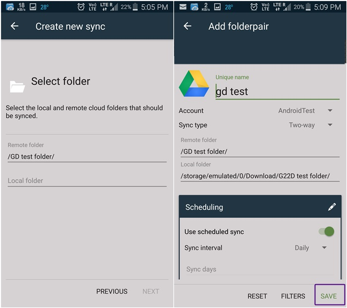 how to sync device to google play