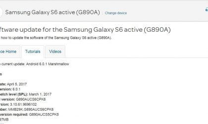 AT&T Galaxy S6 Active receives March security patch update with build G890AUCS6CPK8