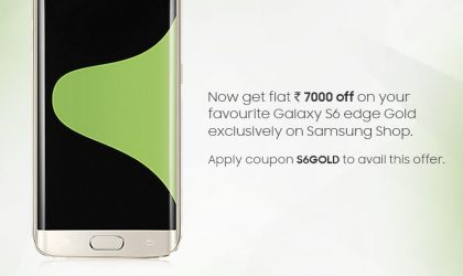 Deal: Samsung giving Rs 7,000 discount on Galaxy S6 Edge in India