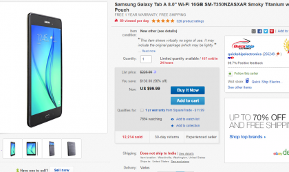 Deal: Get Galaxy Tab A 8.0 for $100 only at eBay