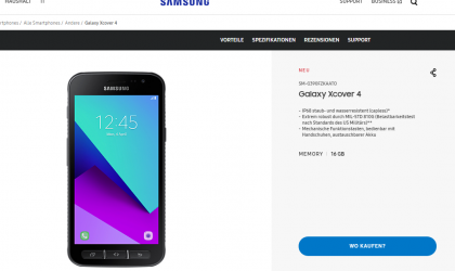 Samsung Galaxy Xcover 4 launched in Spain and Austria