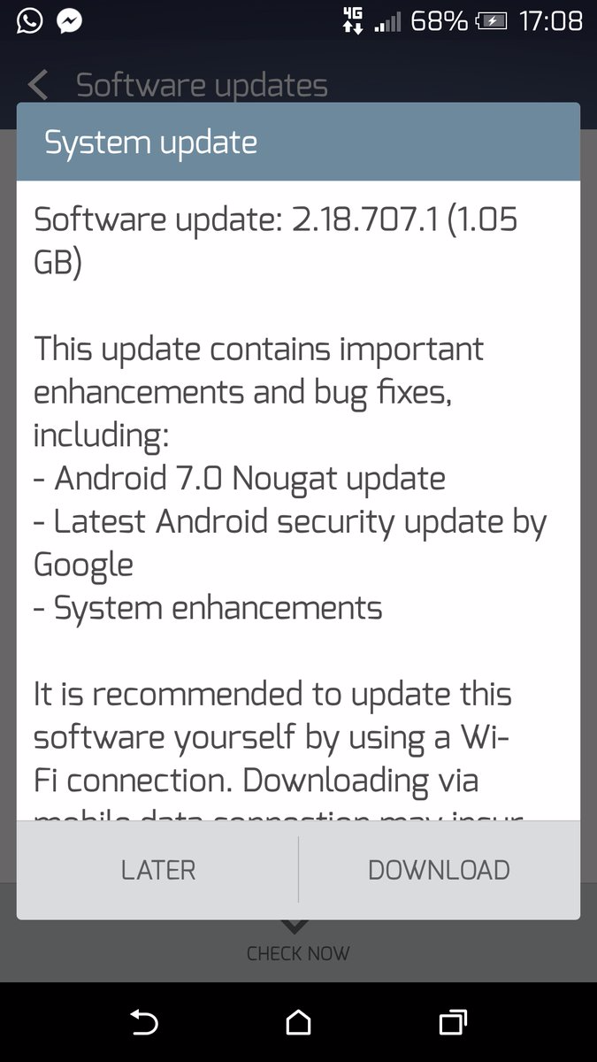 HTC One A9 in India receiving Android 7 0 Nougat OTA update