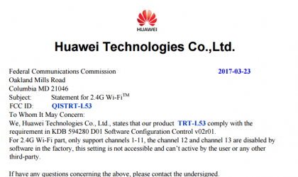 Huawei Enjoy 7 Plus clears FCC, could release soon in USA and other markets