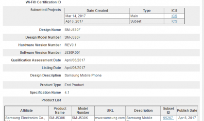 Galaxy J5 2017 to release soon, clears Bluetooth SIG