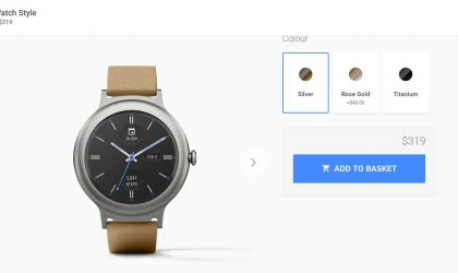 LG Watch Style now on sale at Canadian Google Store