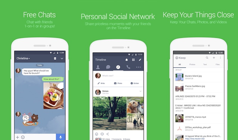 LINE adds support for group video calls in landscape mode ...
