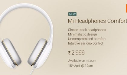 Xiaomi's new Mi Headphones Comfort launched in India at Rs 2,999