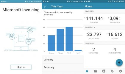 Microsoft Invoicing Android app launched on Play Store