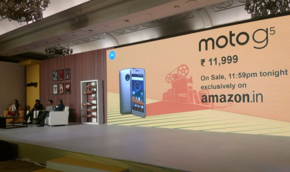 Moto G5 to go on sale in India tonight, priced INR 11,999