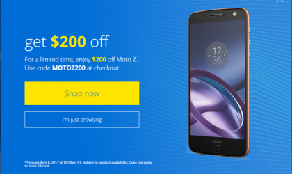 Deal: Motorola offering $200 discount on Moto Z, now available for $499