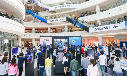 1.6 million people visited Galaxy S8 experience zones in Korea