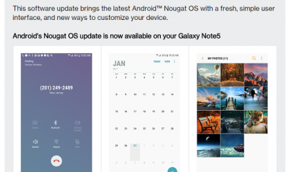 Verizon Galaxy Note 5 and S6 Edge Plus Nougat update rolling out with build N920VVRU3CQB9 and G928VVRU3CQB9