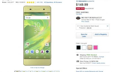Deal: Xperia XA 4G LTE available for $150 on Best Buy, $100 off the regular price
