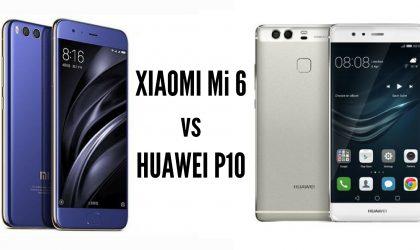 Xiaomi Mi6 vs Huawei P10