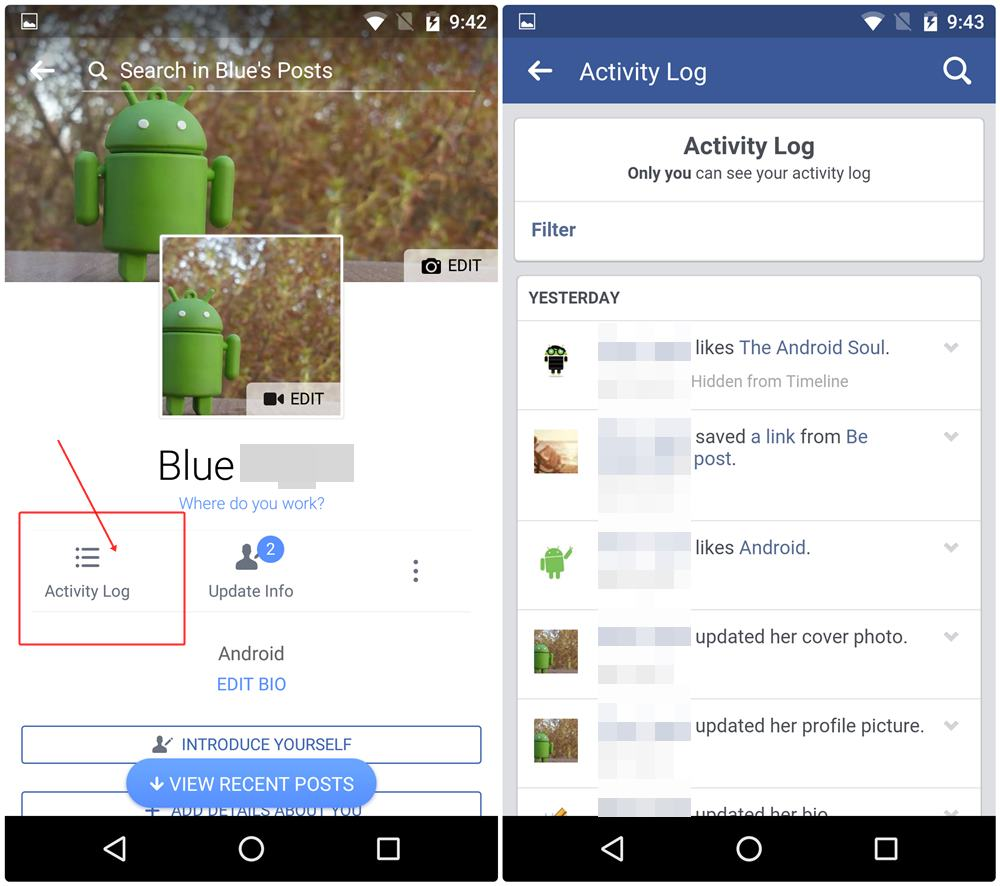 how to hide when you are on facebook app