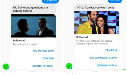 How to play Bollywood quiz game on the Facebook messenger
