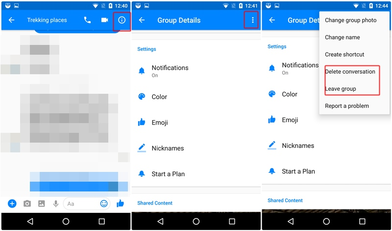 Facebook messenger tips tricks you should know the android soul delete group conversation leave group messenger ccuart Image collections