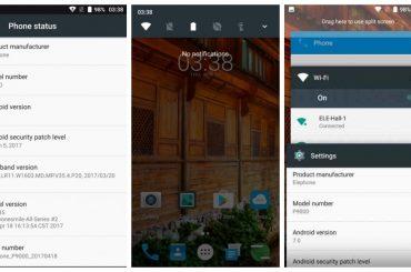 elephone p9000 Nougat update