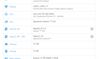 Sharp Aquos Z3 specs available thanks to GFXbench leak