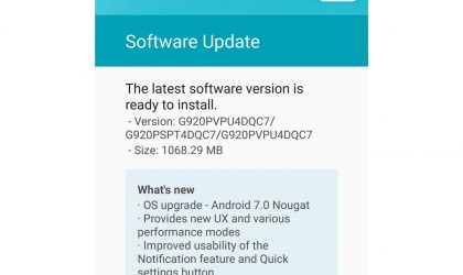 Sprint Galaxy S6 and S6 Edge receiving Android 7.0 Nougat update with build G920PVPU4DQC7 and G925PVPU4DQC7