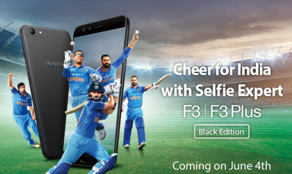 Oppo F3 Black Edition set for release on June 4