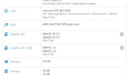 Samsung begins Galaxy A8 Nougat update testing, shows up on GFXbench