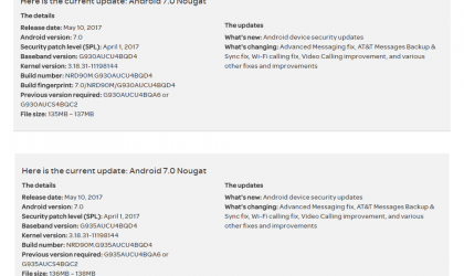 AT&T Galaxy S7 and S7 Edge OTA update rolling out various fixes and improvements