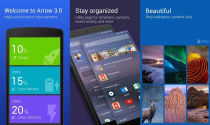 Arrow launcher update lets you take notes and add app shortcuts